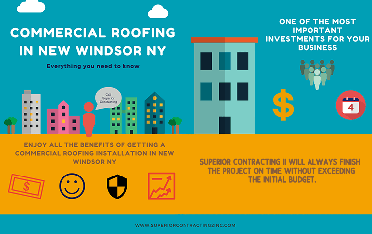 infographic about the services offered by superior contracting regarding commercial roofing in New Windsor NY