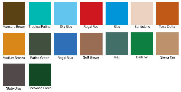 I googled TPO colors, and I got this result.