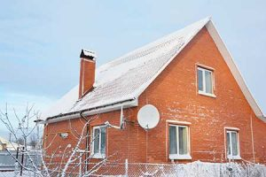 metal roof is perfect for snow